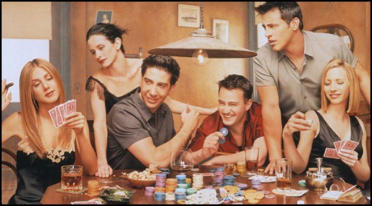 Imagem de amigos a jogar um jogo para beber