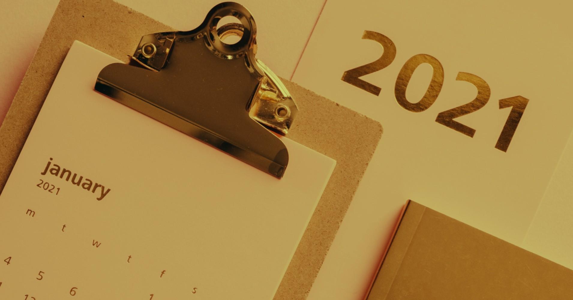 Calendário de janeiro de 2021