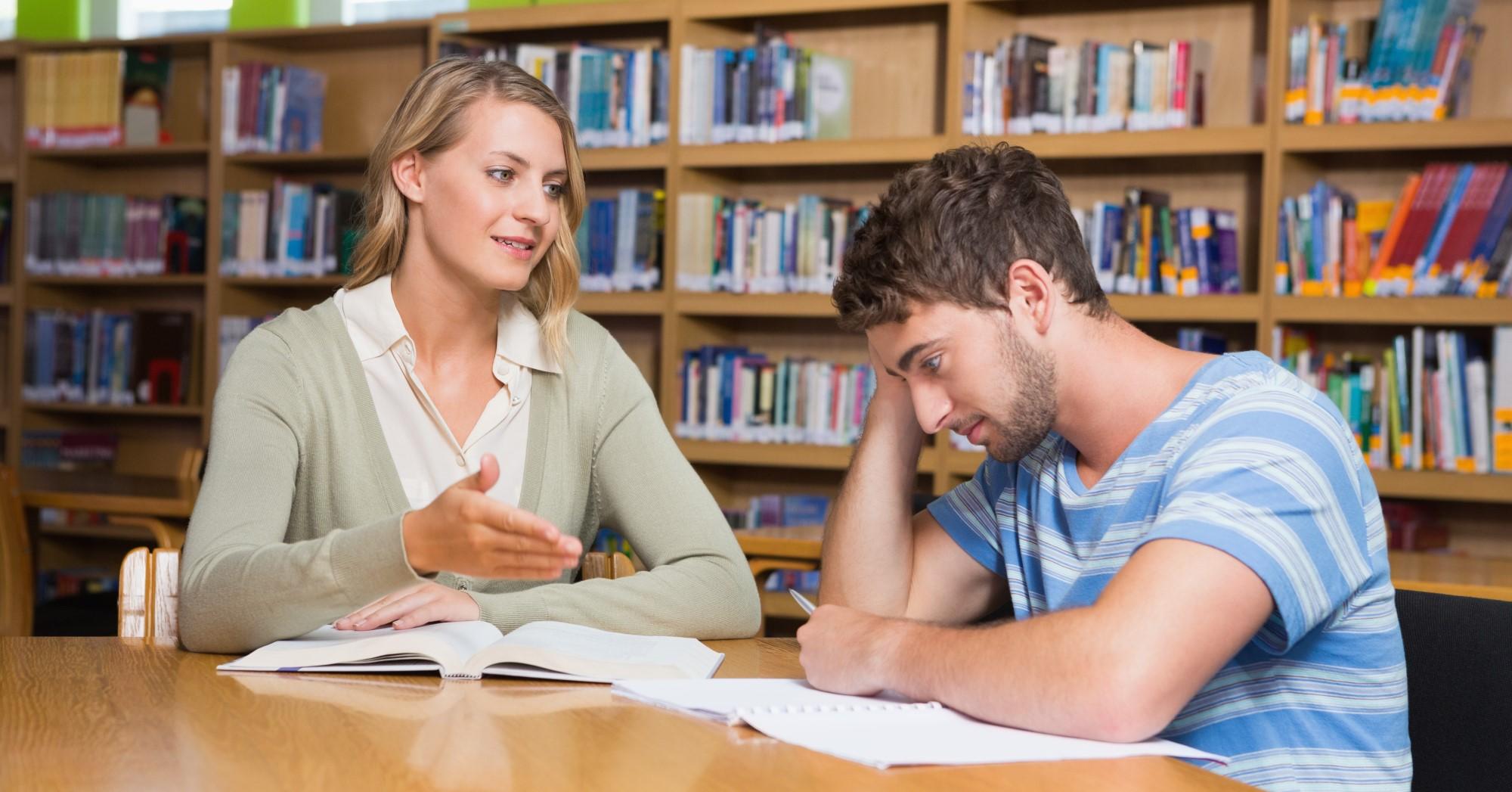 Explicadora e aluno