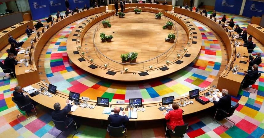 Líderes Europeus reunidos no Conselho Europeu
