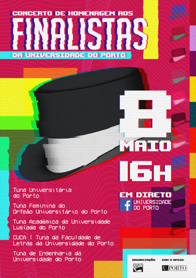 Cartaz do concerto de homenagem aos estudantes
