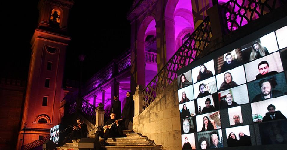 Serenata Simbólica da Queima das Fitas de Coimbra, realizada em 2020, no Paço das Escolas da Universidade de Coimbra