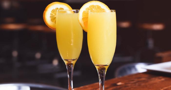 Cocktail de mimosa que tens de provar