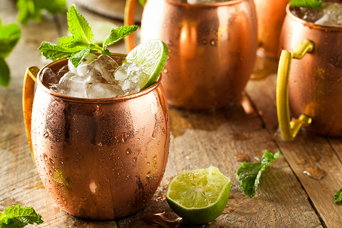 Cocktail de Moscow Mule que tens de provar